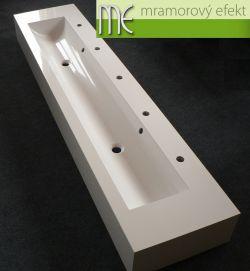 Umývací žlab do školky: 200 x 40 cm, 25 cm vysoká čela, 5 baterií