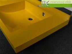 Umyvadlová deska Flexible 47 s dvěma umyvadly Massive 42x37cm_hořčicová žlutá (RAL 1021)