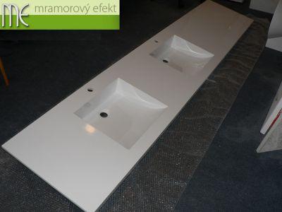 Dlouhá dvojumyvadlová deska 2,66 x 53,5 cm