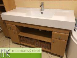 Umyvadlová deska s hranatým umyvadlem DAKOTA52-fotka od zákazníka