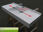 Umyvadlová deska na míru - Flexible 47, umyvadlo MASSIVE 80x37