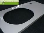 M.E. sro_podumyvadlova deska Flexible60_125x60 cm s vyrezem pro zapustne umyvadlo