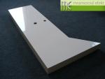 Atypicka deska pod umyvadlo-Waschtischplatte unter Aufsatzbecken nach Mass aus Mineralguss