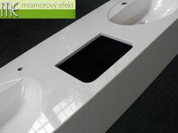 Mohutné umyvadlové desky Flexible 60 s otvory pro osušovače rukou