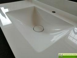 Plochá umyvadlová deska na koupelnovou skříňku s umyvadlem typu POLAR50