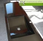 ME sro_umyvadlova deska Flexible 60_1x arctic_205x47cm_RAL 9005 cerna