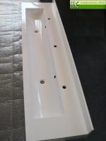 MEsro_mycí žlab Flexible 50_rozměr 200x50cm_zadní soklík 10cm_přední a boční čela 15cm