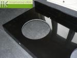 M.E. sro_podumyvadlova deska Flexible60_Waschtischplatte nach Mass aus Mineralguss schwarz_136x60 cm_RAL 9005 cerna