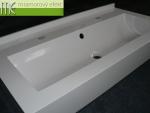 Waschrinne auf Mass Flexible47_3cm Hintersockel_93 x 47cm_12cm Frontsockel und Seitenabschlüssen_1 Waschrinne 80x26 cm