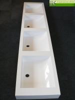 Umyvadlova deska 4x Massive42_Waschtisch auf Mass